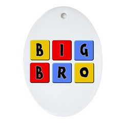 Big Bro Oval Ornament
