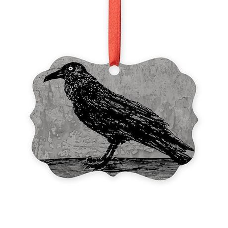 A Raven Picture Ornament