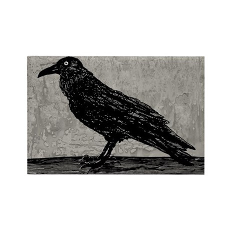A Raven Rectangle Magnet