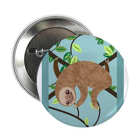 "Sleepy Sloth 2.25"" Button"