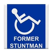 Former Stuntman Tile Coaster