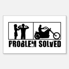 Problem Solved Decal