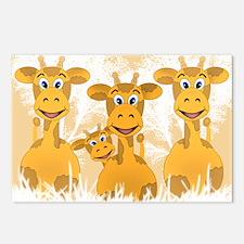 Giraffes Postcards (Package of 8)