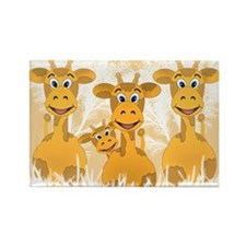 Giraffes Rectangle Magnet (10 pack)