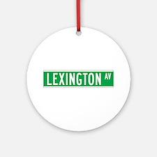 Lexington Ave., New York - USA Ornament (Round)