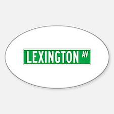 Lexington Ave., New York - USA Oval Decal