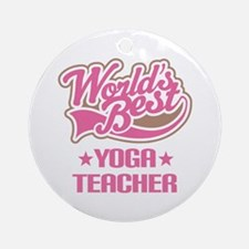 Yoga Teacher Ornament (Round)
