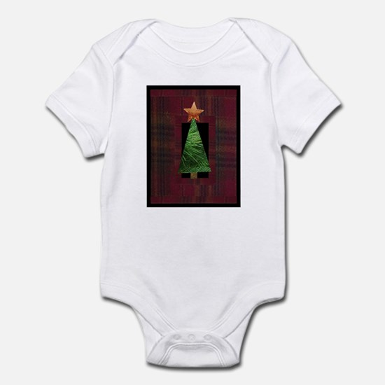 Flannel Tree Design Infant Bodysuit