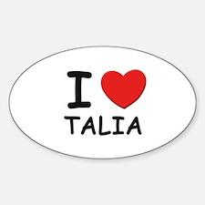 I love Talia Oval Decal