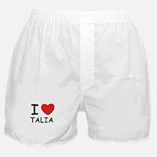 I love Talia Boxer Shorts