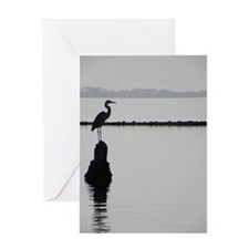 Heron Silhouette Greeting Card