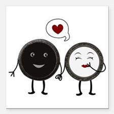 "Cookie Love Square Car Magnet 3"" x 3"""