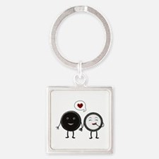 Cookie Love Square Keychain