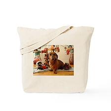 Christmas Dachshund (Ver. 1) Tote Bag