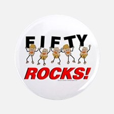 "Fifty Rocks 3.5"" Button"