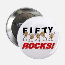 "Fifty Rocks 2.25"" Button (10 pack)"
