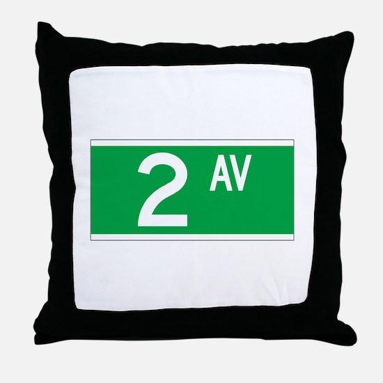 2nd Ave., New York - USA Throw Pillow
