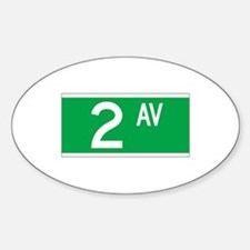 2nd Ave., New York - USA Oval Decal