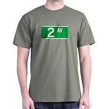 2nd Ave., New York - USA T-Shirt