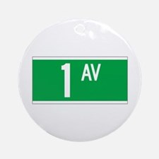 1st Ave., New York - USA Ornament (Round)
