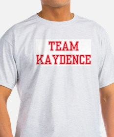 TEAM KAYDENCE  Ash Grey T-Shirt