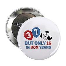 """37 year old birthday design 2.25"""" Button"""