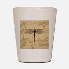 Dragonfly Vintage Shot Glass