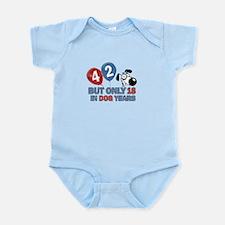 42 year old birthday design Infant Bodysuit
