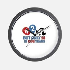42 year old birthday design Wall Clock