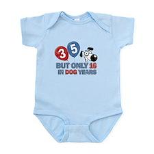 35 year old birthday design Infant Bodysuit