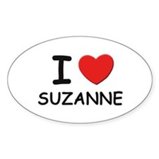 I love Suzanne Oval Decal