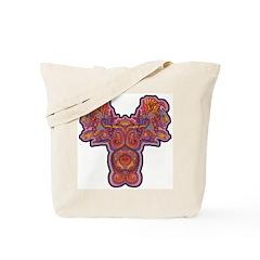 Red Quetzalcoatl Tote Bag