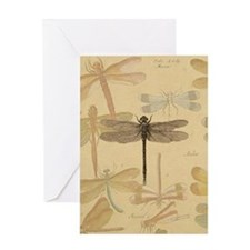 Dragonfly Vintage Greeting Card
