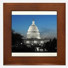 Capitol Hill Blue Framed Tile