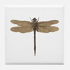 Dragonfly Vintage Tile Coaster
