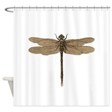 Dragonfly Vintage Shower Curtain