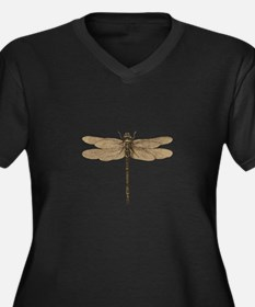 Dragonfly Vintage Plus Size T-Shirt
