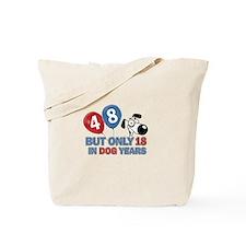 48 year old birthday design Tote Bag