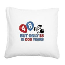 48 year old birthday design Square Canvas Pillow