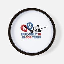 49 year old birthday design Wall Clock