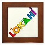 Rainbow Lokahi Framed Tile