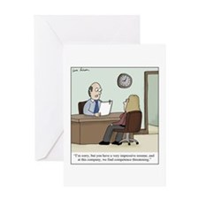 Cute Resume Greeting Card
