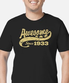 Awesome Since 1933 Men's Fitted T-Shirt (dark)