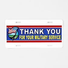 MILITARY THANKS Aluminum License Plate