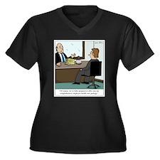 Cool Health insurance Women's Plus Size V-Neck Dark T-Shirt