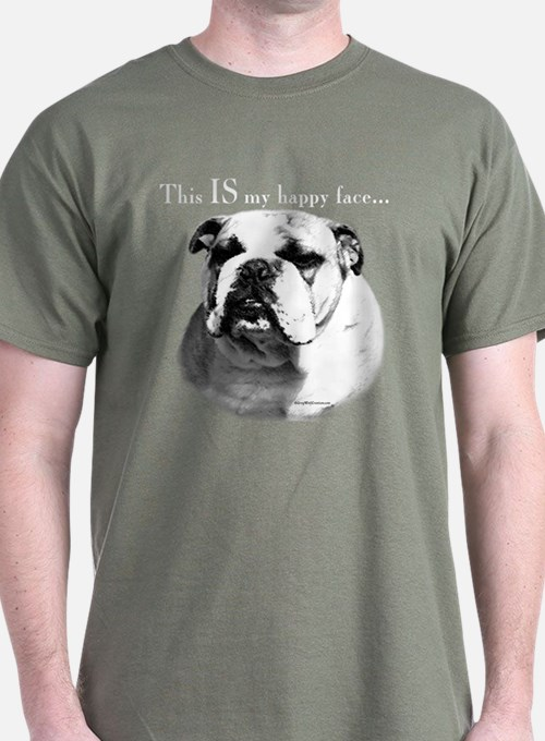 Bulldog Happy Face T-Shirt