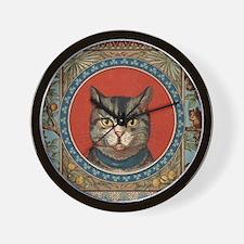 Cat World Vintage Kitty Wall Clock