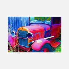 Old Abandoned Jalopy Truck Rectangle Magnet