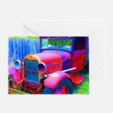 Old Abandoned Jalopy Truck Greeting Card