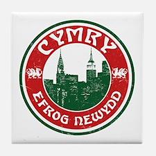 Cymry Efrog Newydd New York Welsh Tile Coaster